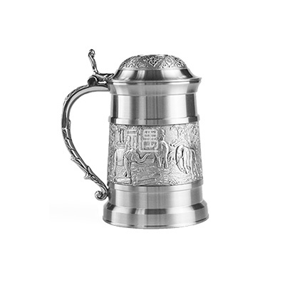 吉象纯锡茶杯盖杯商务礼品