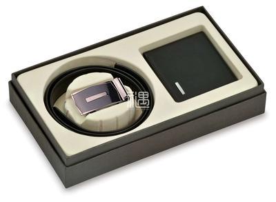 巴天弩真皮钱夹钱包皮带皮具两件套礼盒商务礼品