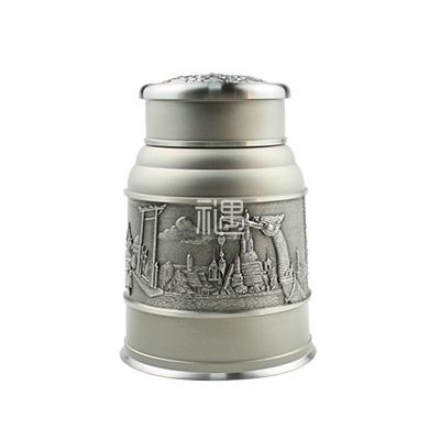 吉象锡罐容器茶叶罐商务礼品