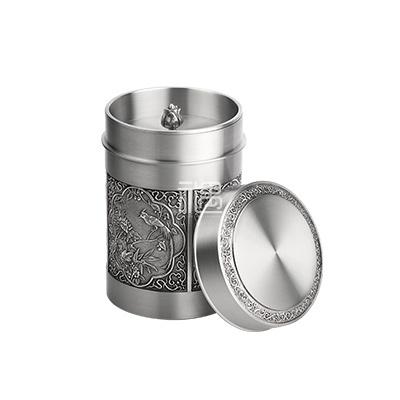 花开富贵锡罐容器茶叶罐商务礼品