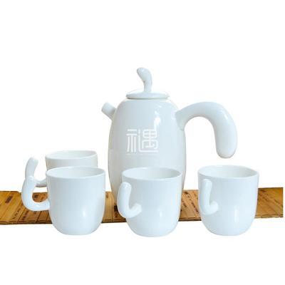 骨质瓷树杈/望月茶壶套装商务礼品