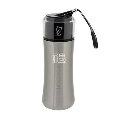 不锈钢真空保温杯便携提绳杯时尚水杯茶杯