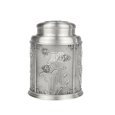 四季呈祥锡罐容器茶叶罐商务礼品