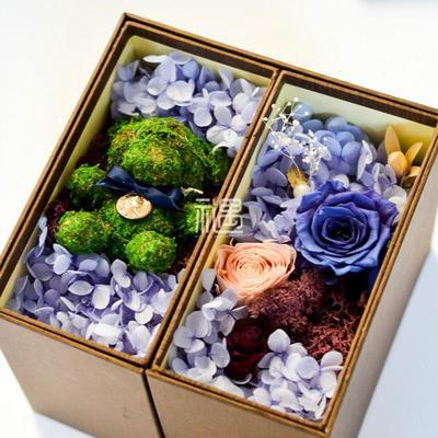 CLAIRE克莱尔永生花包装-熊小小的礼物 情人节