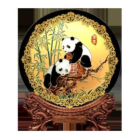 收藏盘摆件-国宝熊猫商务礼品