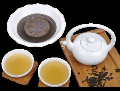 定窑陶瓷茶具(清莲)商务礼品
