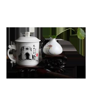 定窑陶瓷茶具玉龙杯商务礼品