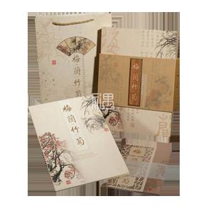 真丝彩印梅兰竹菊邮票册商务礼品