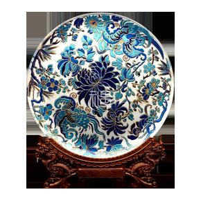 收藏盘摆件-花瓞呈瑞商务礼品