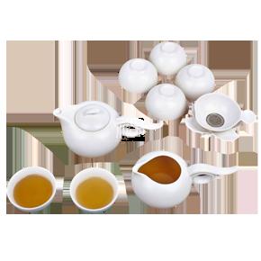 定窑陶瓷茶具(鹊韵)商务礼品